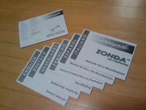 Zondaのマニュアル